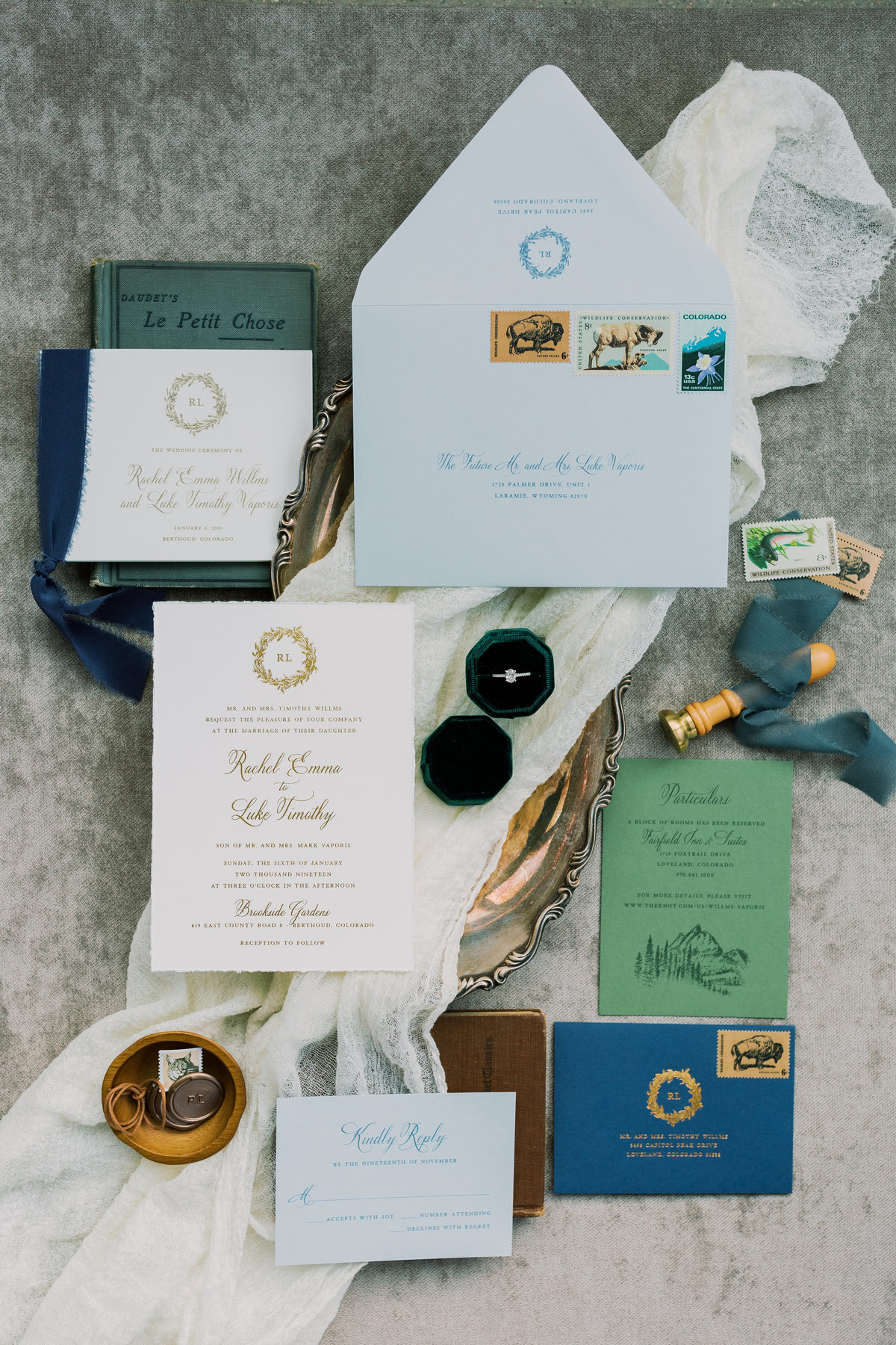 Beautifully Noted Invitation Suite Colorado Wedding