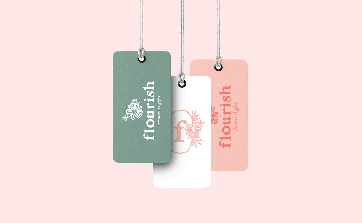 Flourish Flowers & Gifts hang tags
