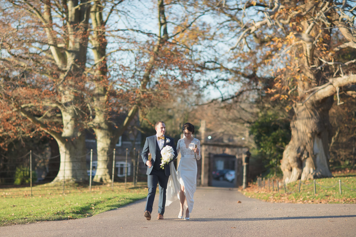 fall wedding at st audries park somerset