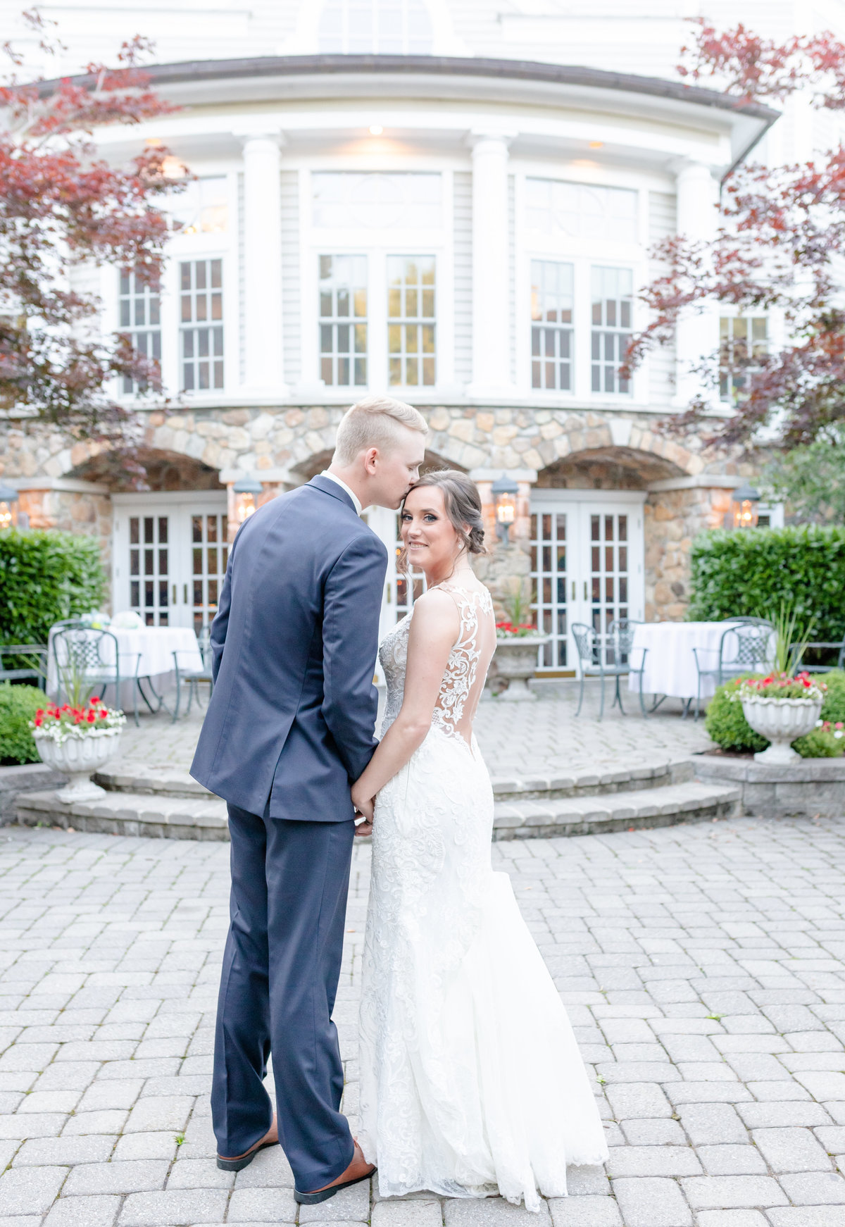 Olde Mille Inn wedding with bride and groom portrait idea