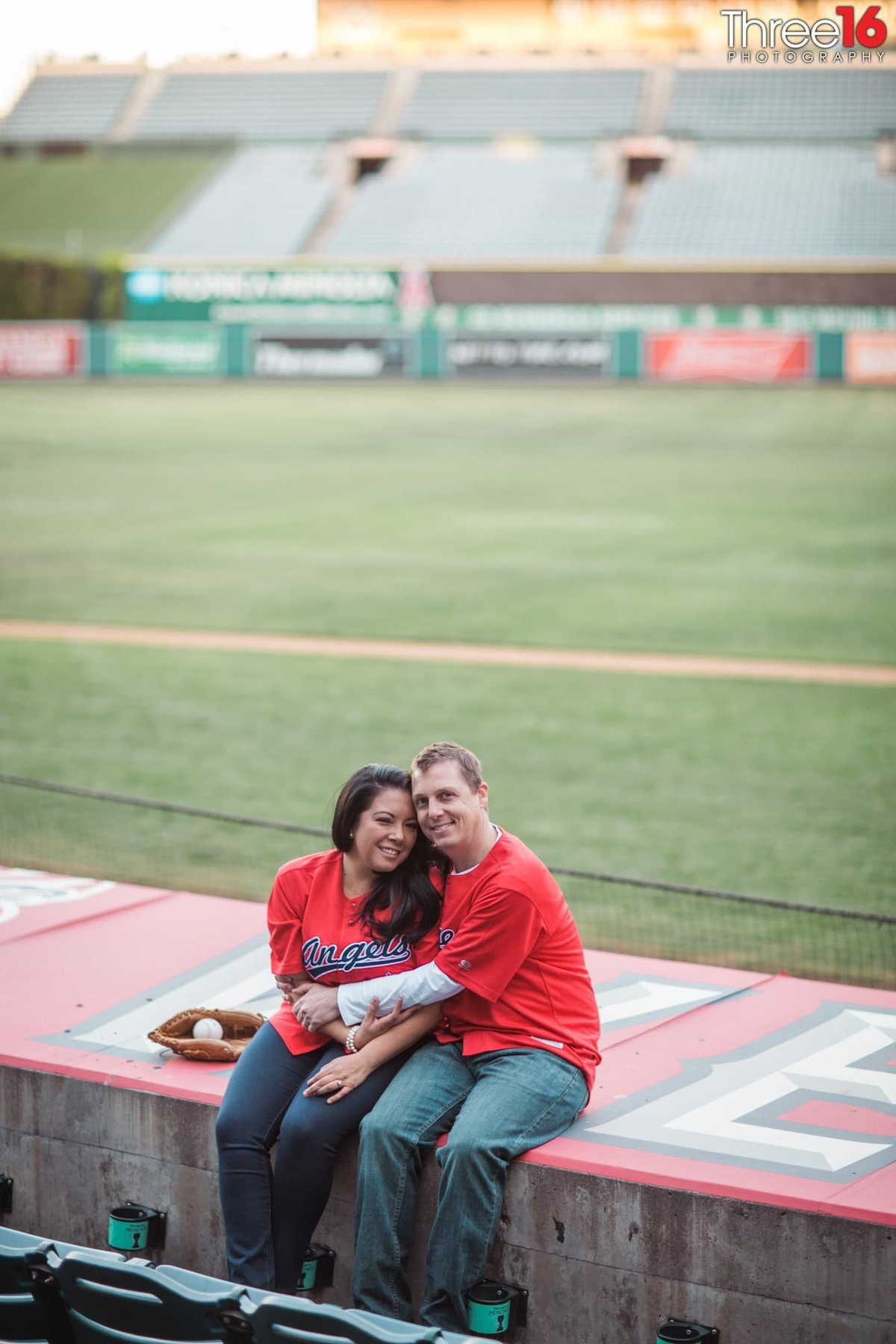 Angel Stadium Engagement Photos Orange County Weddings
