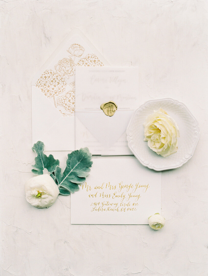 pirouettepaper.com | Wedding Stationery, Signage and Invitations | Pirouette Paper Company | Serra Plaza San Juan Capistrano Wedding | Mallory Dawn Photography