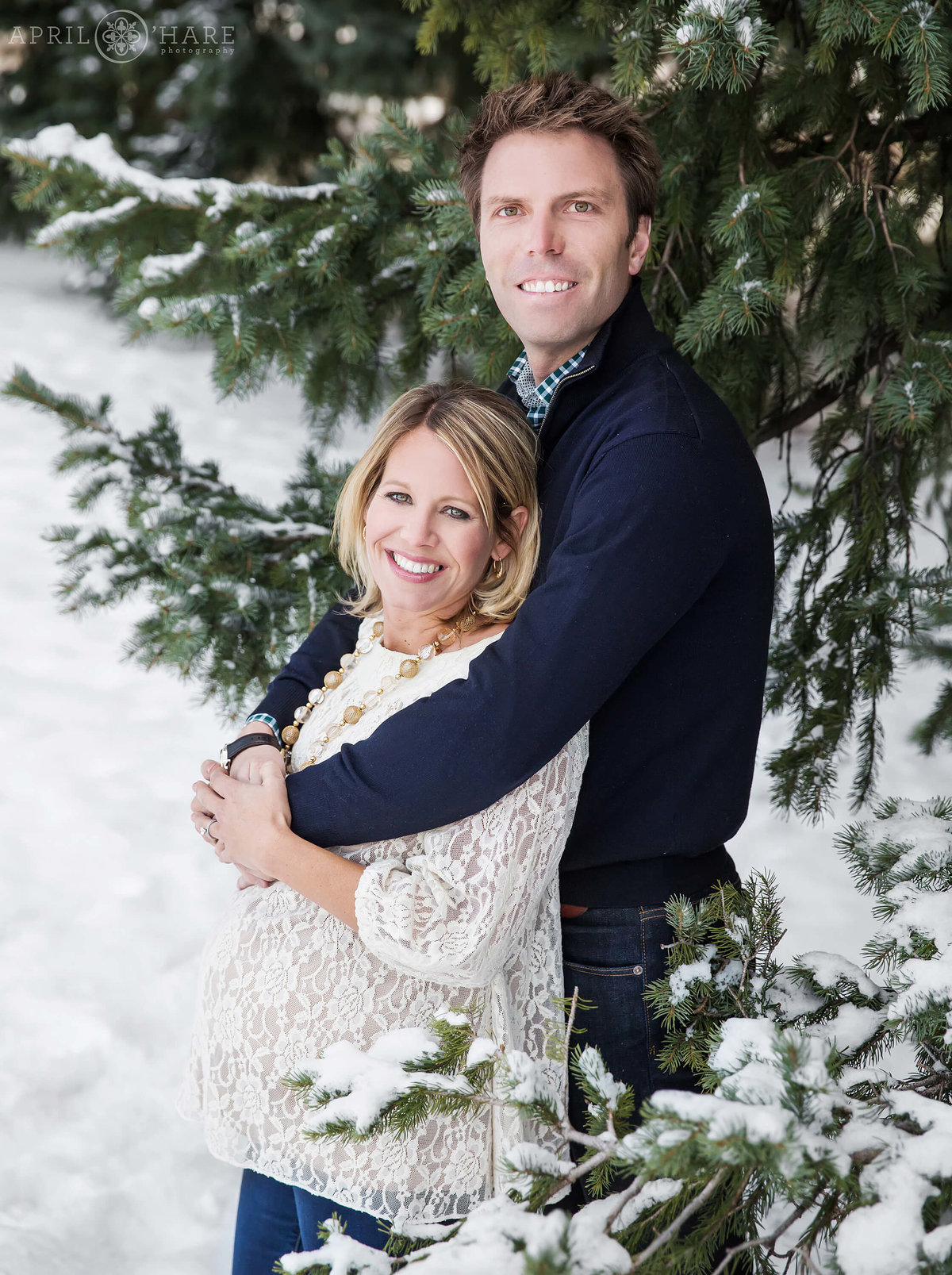 Winter Maternity Photography in Aspen Colorado
