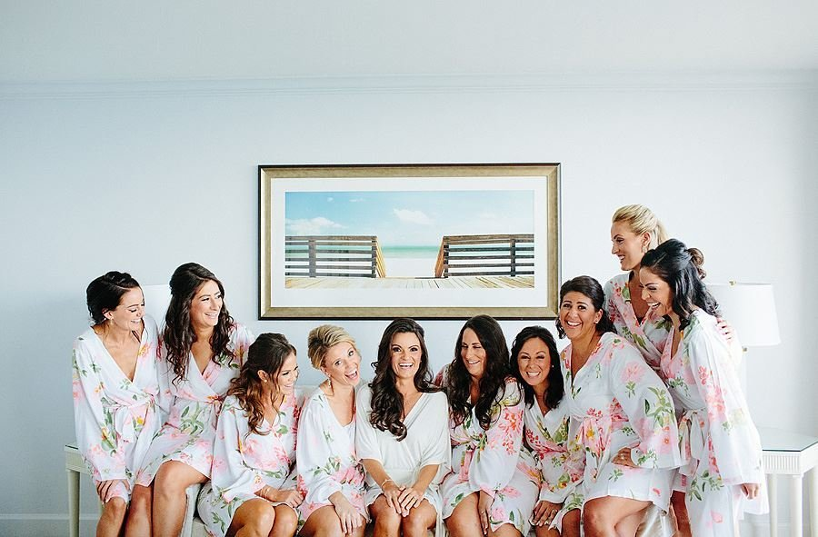 four seasons palm beach bridesmaids getting ready