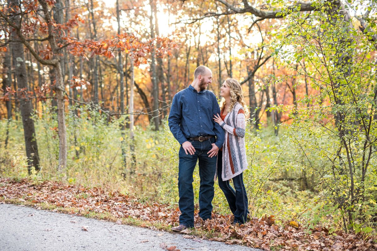 Fall Engagement Session Lapham Peak