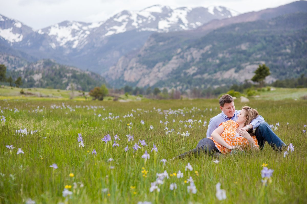 best locations for wildflowers and engagement photos