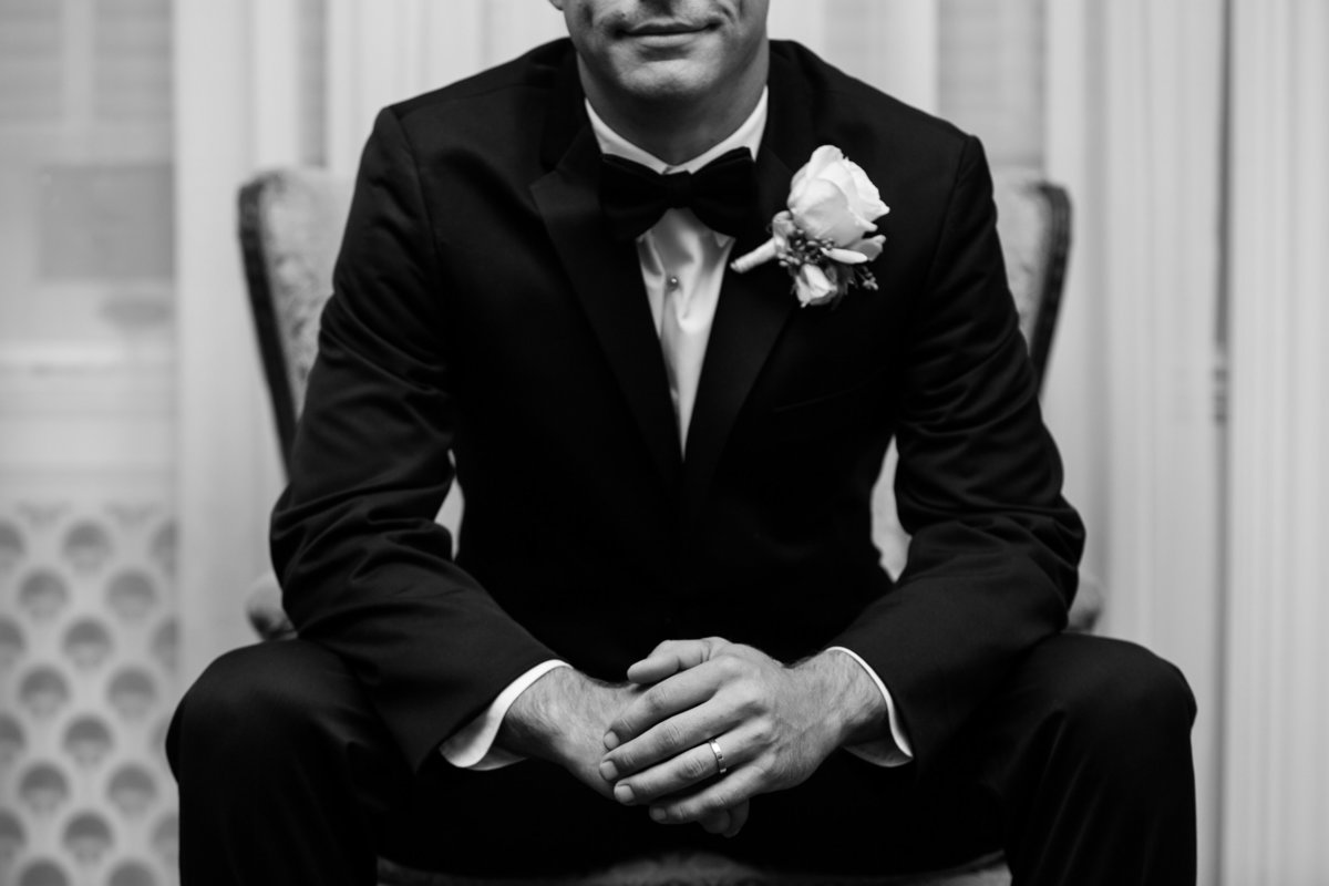 TFWC mansion wedding photographer groom classy black white formal 2312 San Gabriel St, Austin, TX 78705