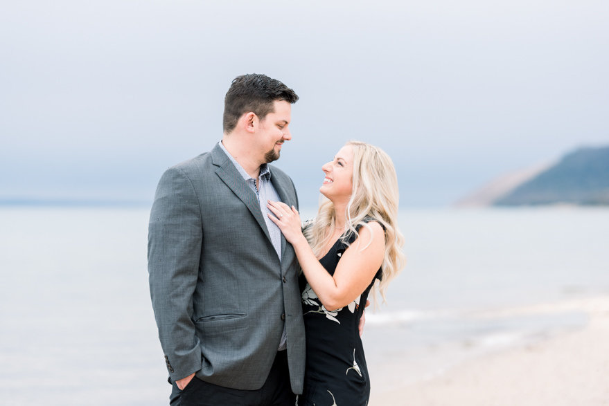 northern michigan beach engagement photography