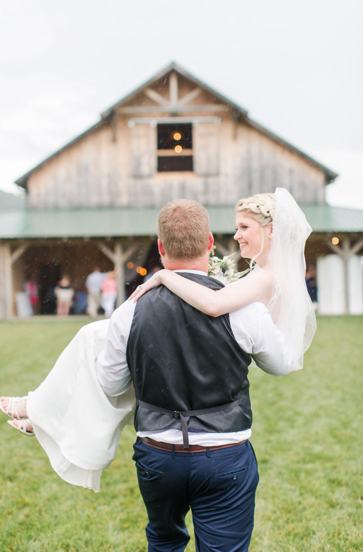 Shades of Blue Rustic Barn Virginia Wedding-218