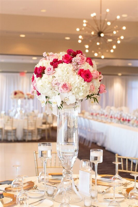 sanctuary-camelback-resort-wedding-reception-pink-and-white-tall-centerpiece
