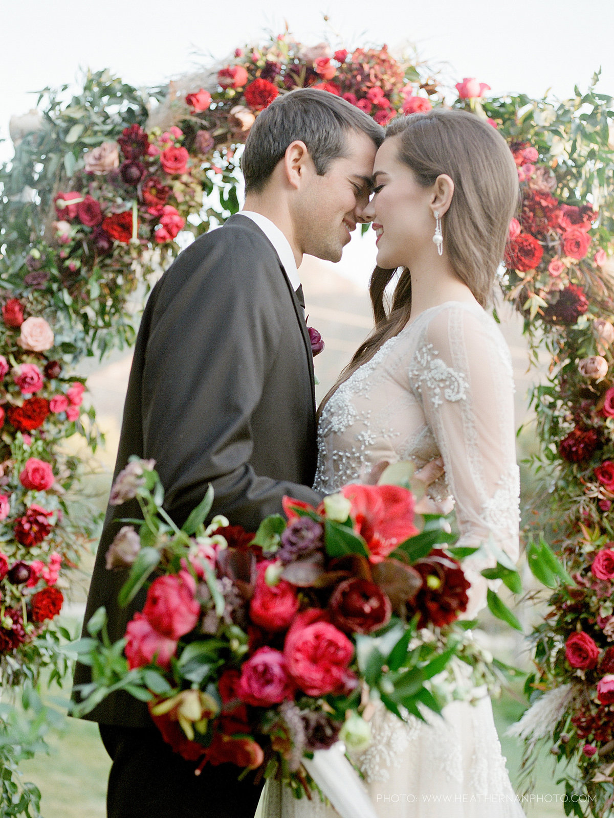Utah Florist_Romantic Vineyard Wedding_Red Wedding Ideas-0147