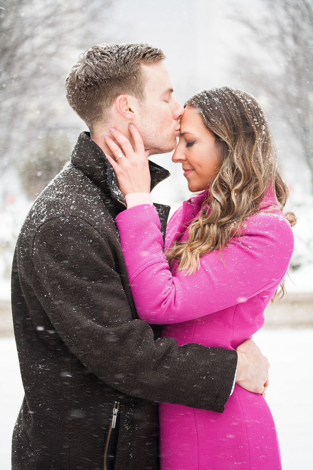 Millennium Park Chicago Illinois Winter Engagement Photographer Taylor Ingles 26