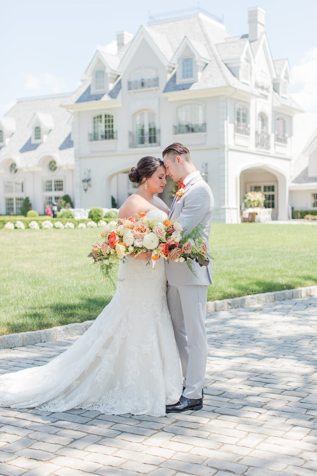 Orange_Inspired_Wedding_Palette_in_the_front_of_Park_Chateau_Estate_and_Gardens_in_East_Brunswick-7