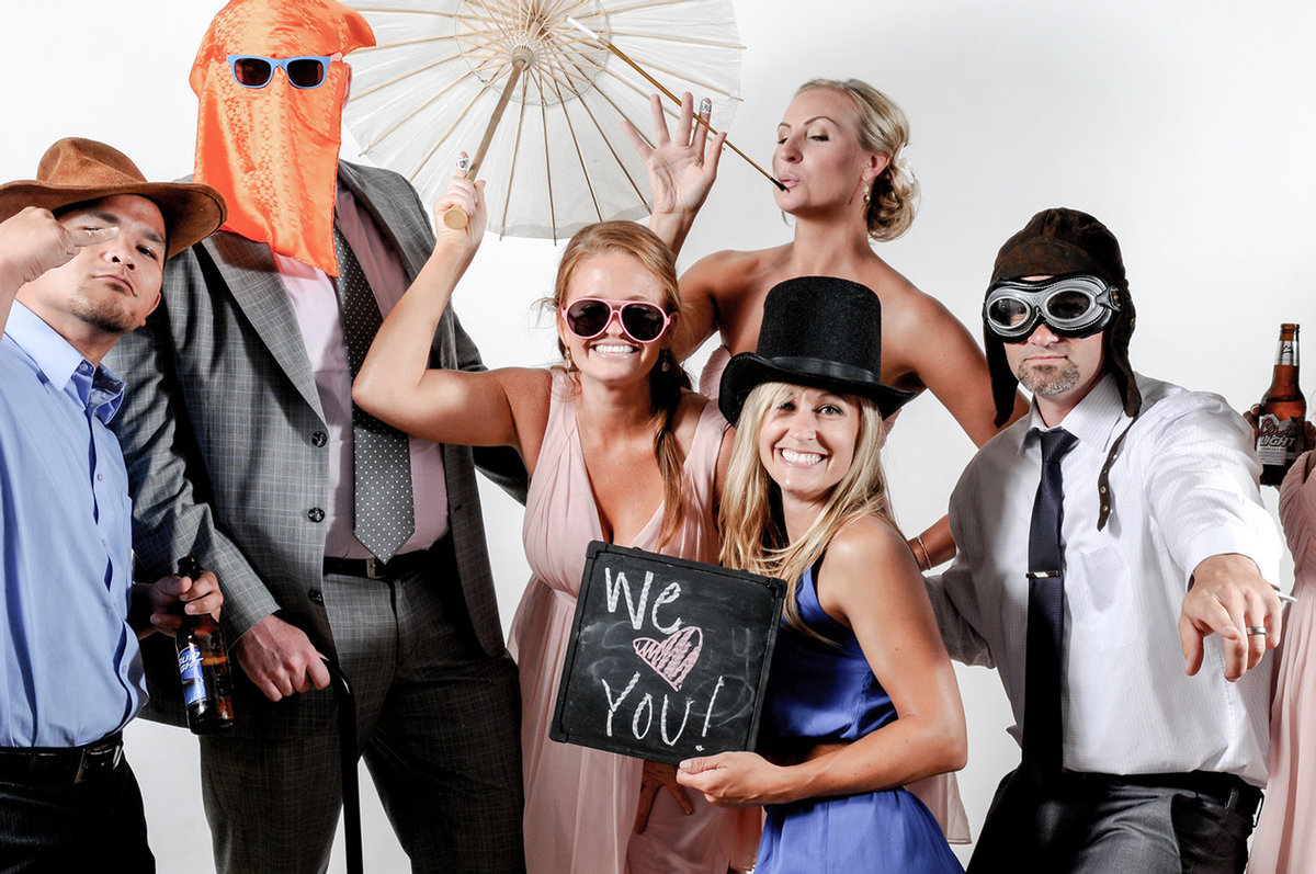 0015-Photo-Booth-Rental-at-Wedding-Reception-Guests-Having-Fun