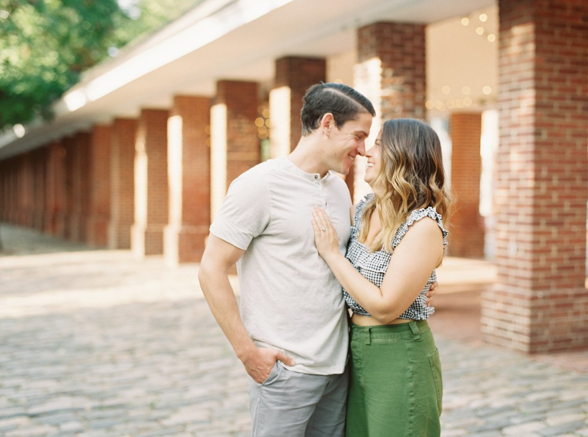 Summer engagement session  with Peter and Taryn at Head House Square in Philadelphia.