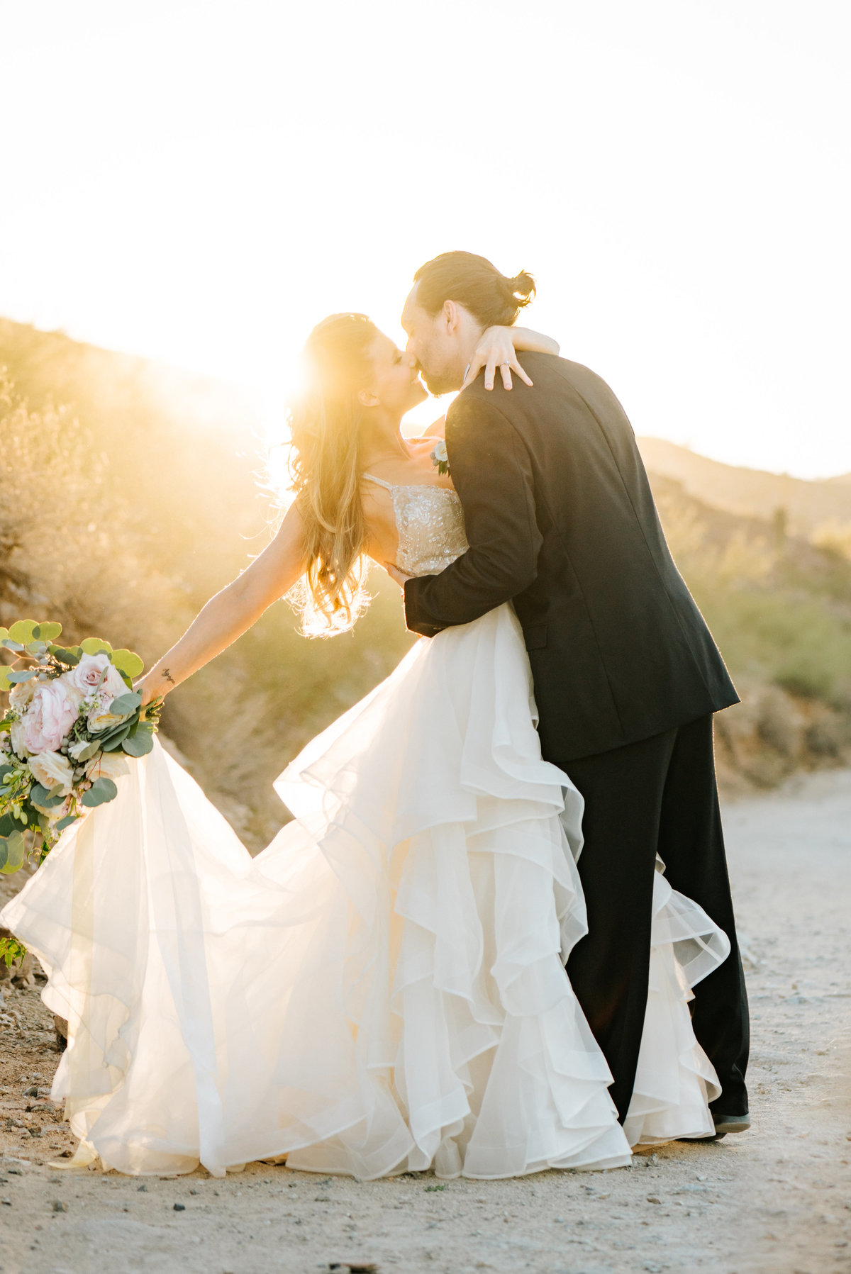 romantic arizona sunset wedding-8