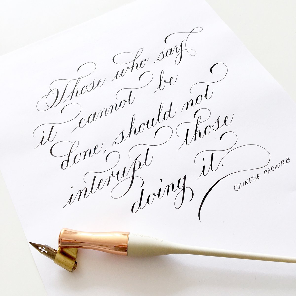 Custom quote in calligraphy | Jenni Liandu Calligraphy
