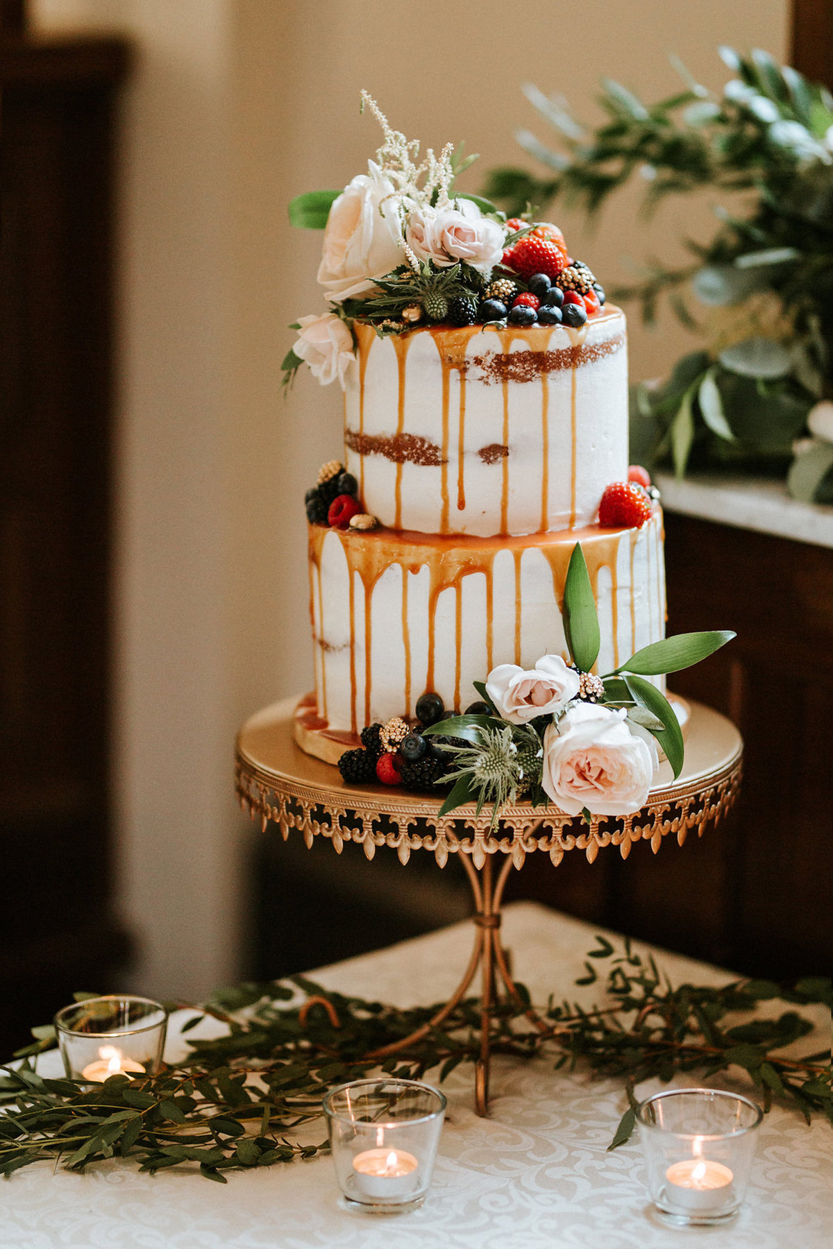 Whippt Wedding Cake - Semi-Naked design with drip