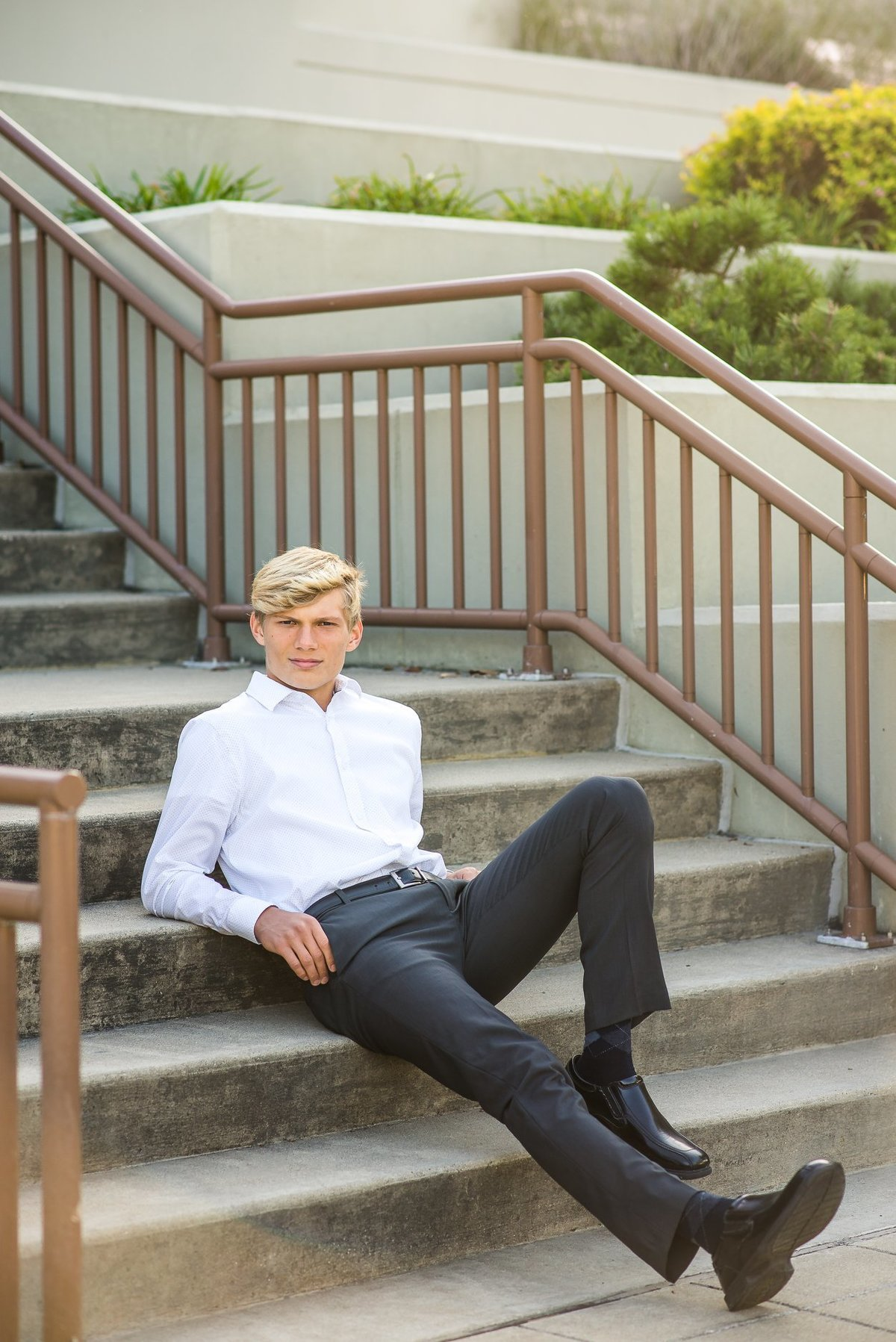 Senior Session On Steps Downtown