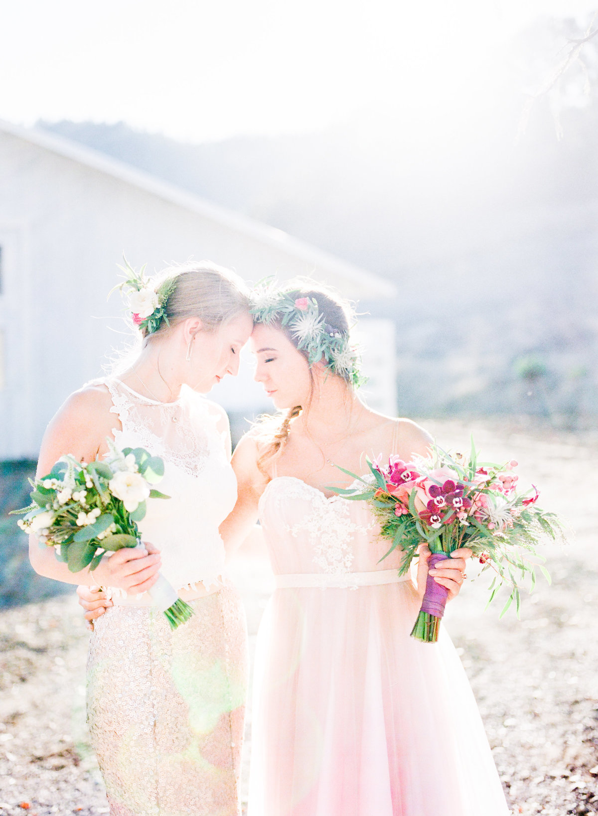 Hazy Sunlight Wedding Photo
