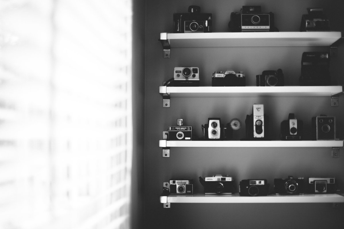 Antique camera collection, Greenville Wedding Photographer, Simply Violet Photography
