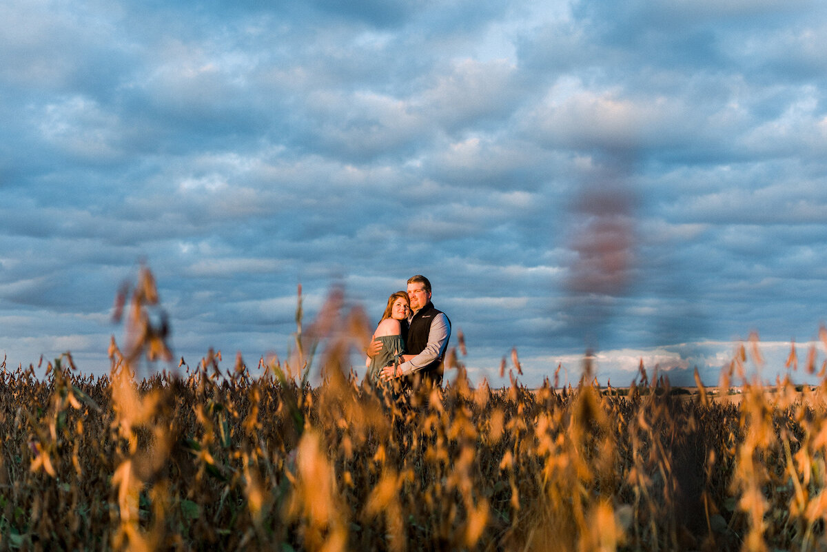 beautiful stormy sunset engagement session