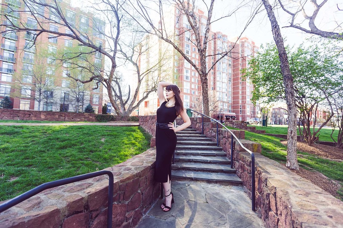 alexandria-virginia-model-pose-formal-black-dress-breaking-tradition-photography