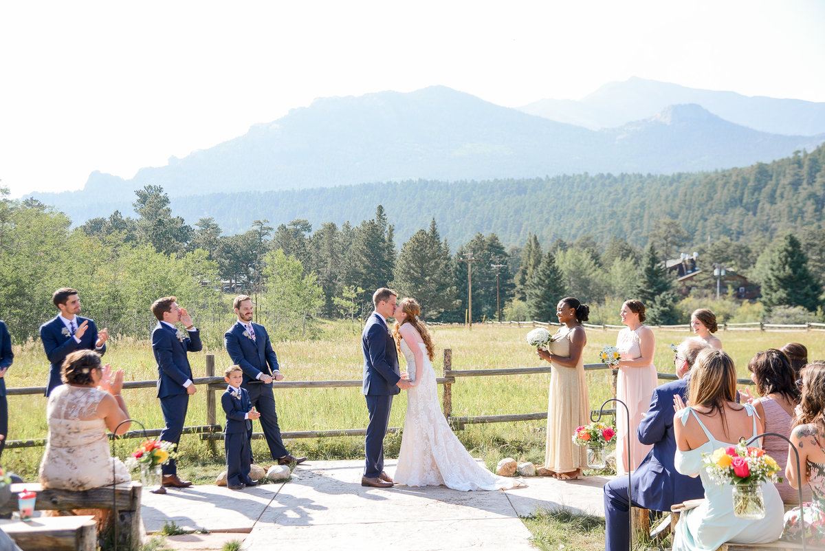 you may kiss the bride photograph overlooking estes park