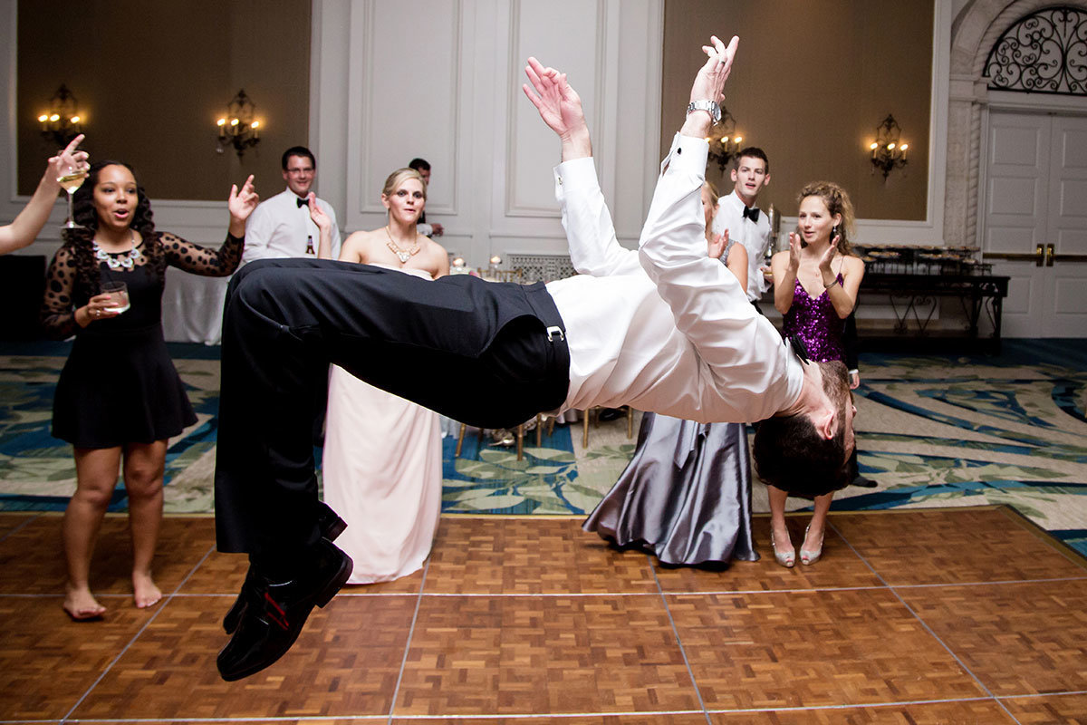 back flip wedding photo ritz carlton naples florida