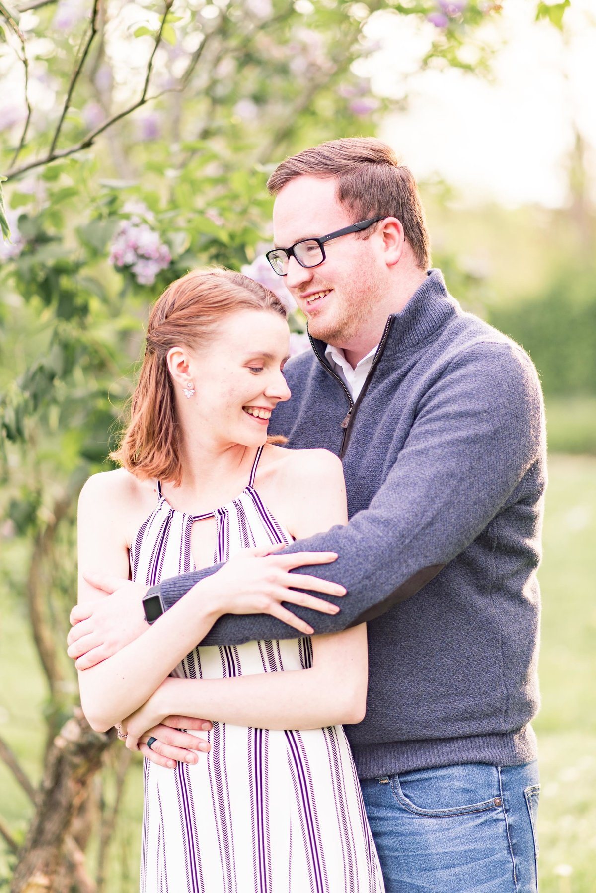 Cait Potter Creative LLC Holcomb Gardens Spring Engagement Photos-2