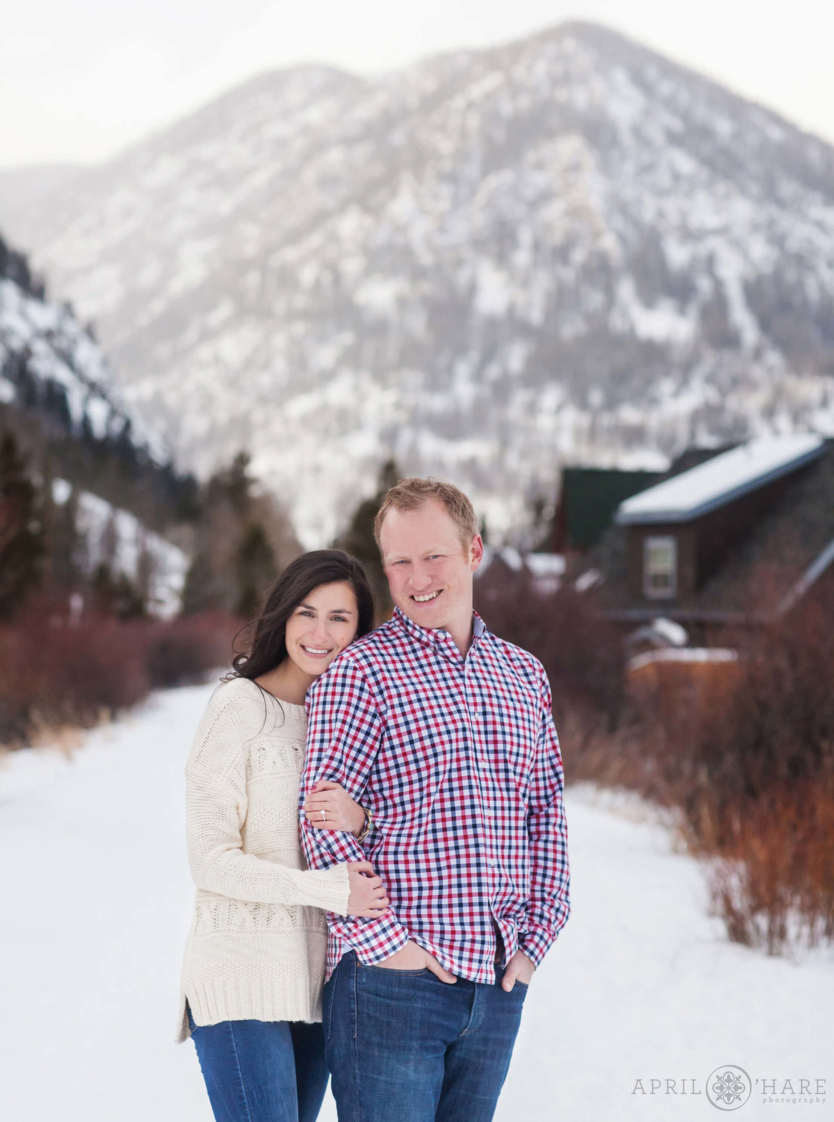 Frisco Colorado Winter Snowy Engagement Photography