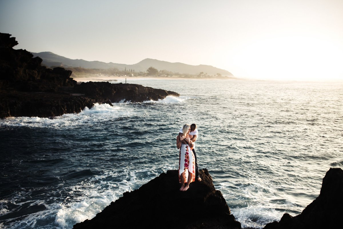 Eternity Beach Honolulu Hawaii Destination Engagement Session - 20