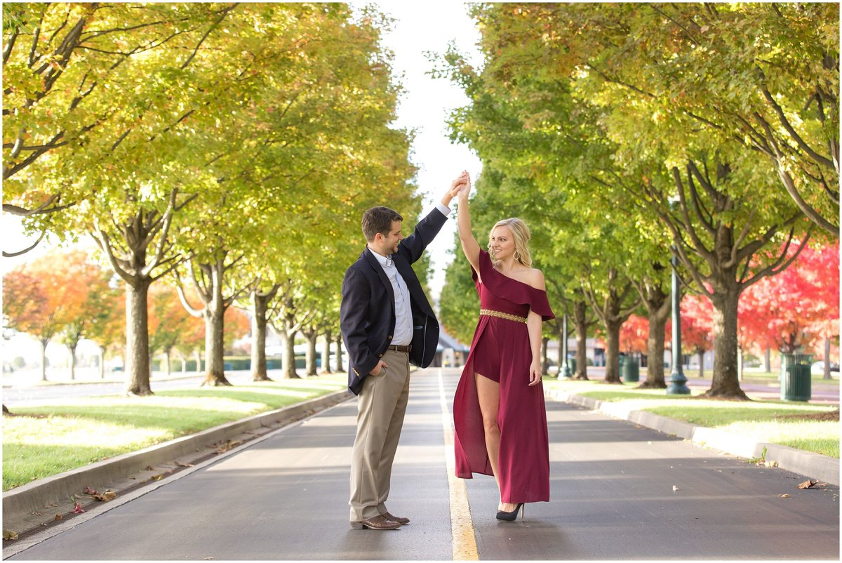Fall Engagement Session at Keeneland