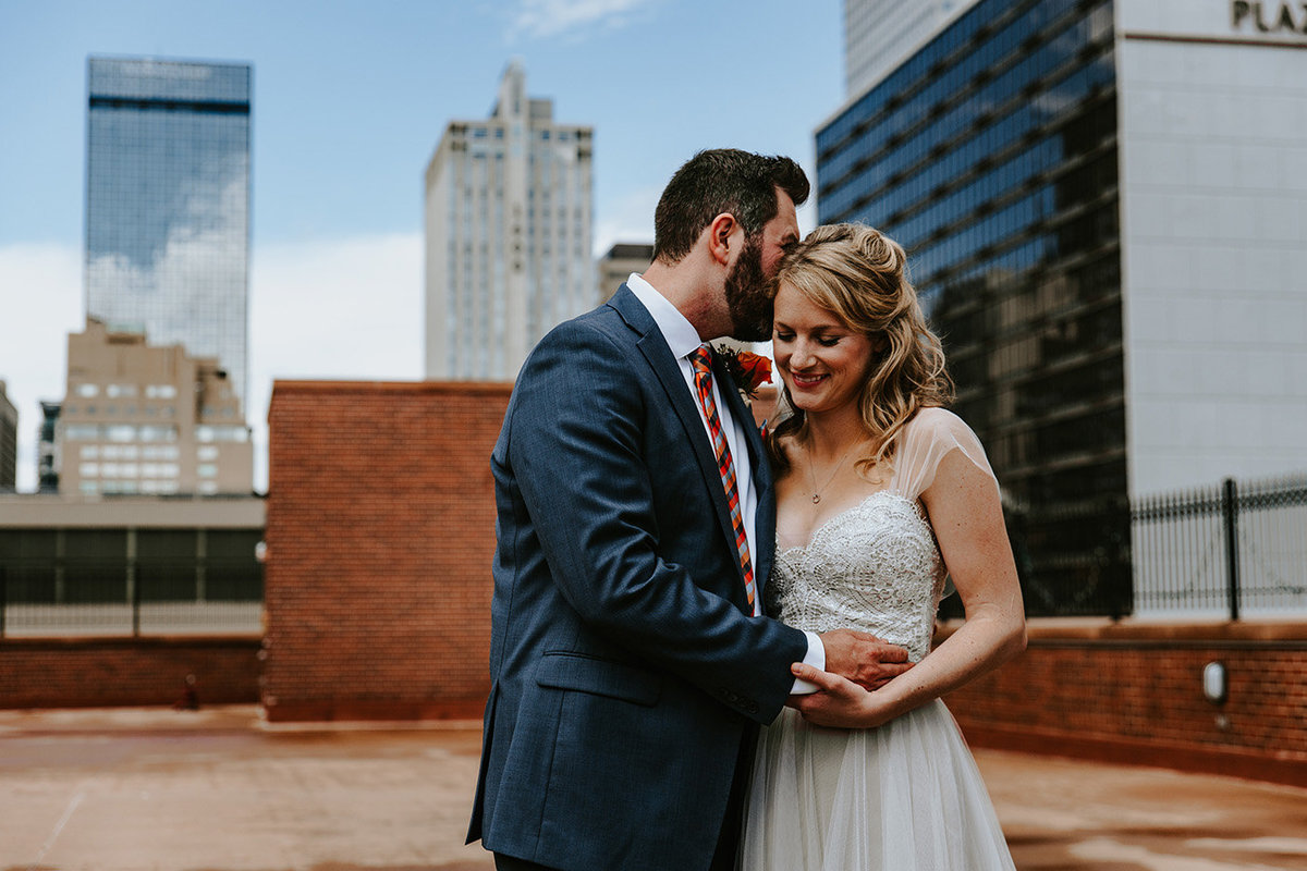 rooftop wedding at the Denver Athletic Club in Denver Colorado