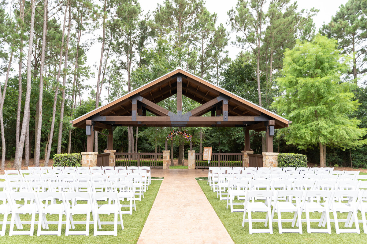 Outdoor Ceremony Space at The Springs in Magnolia, TX