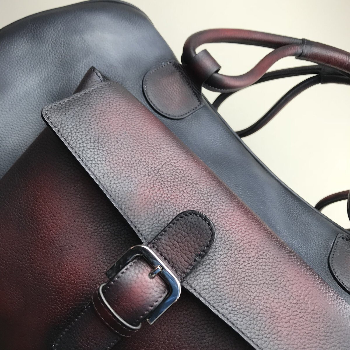 gps-custom-leather-weekender-duffel-bag-grey-red-2