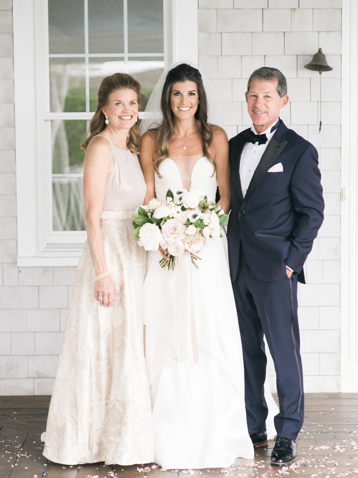 Formal parent photos for Cape Cod wedding weekend by top destination wedding planner Always Yours Events