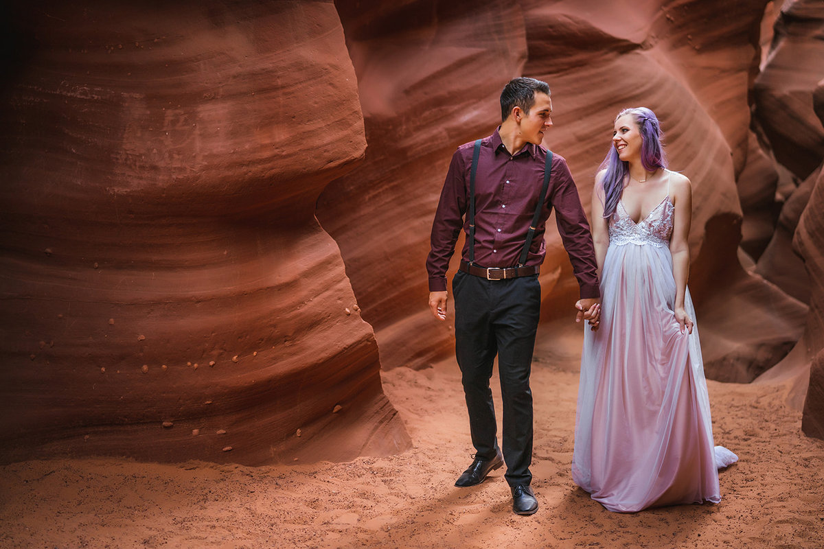 Waterhole Canyon Elopement Photos-33