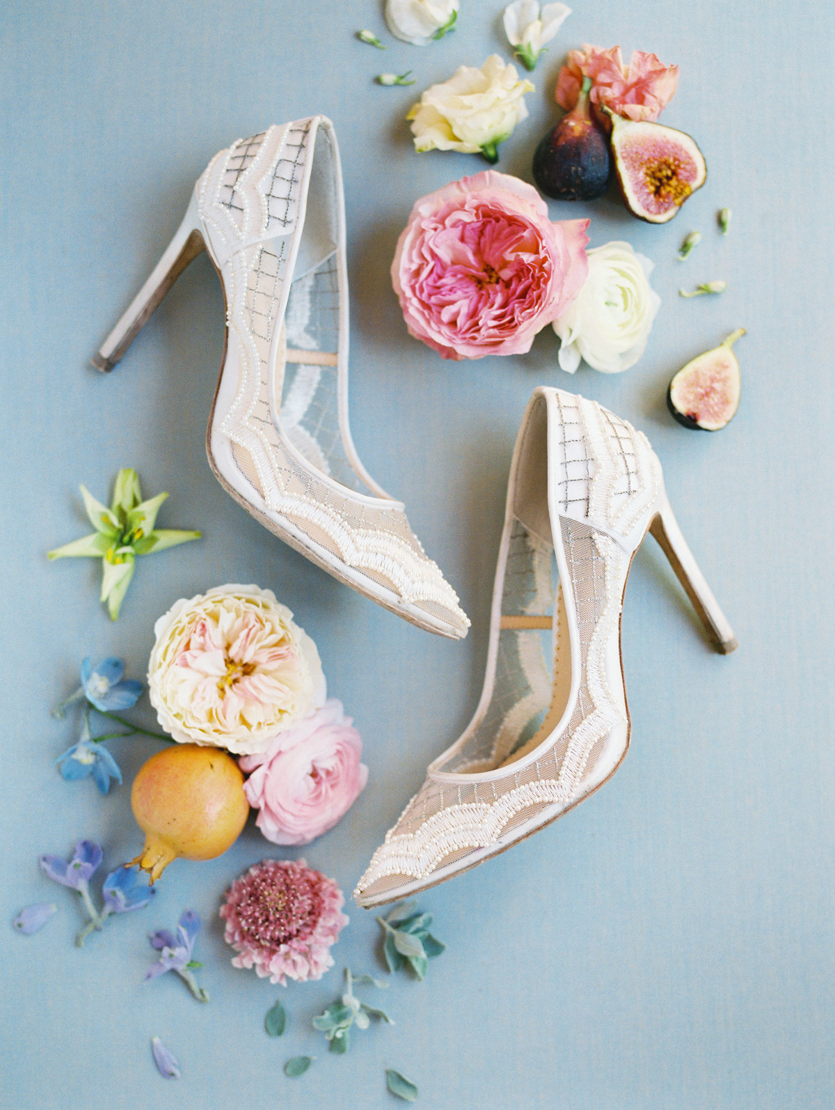 Bella Belle shoes in a wedding flat lay