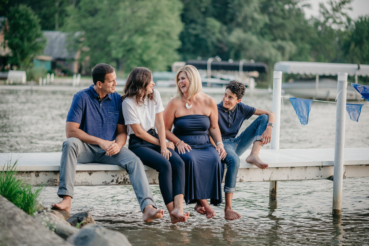 Family on the Dock session downtown Warsaw, Indiana