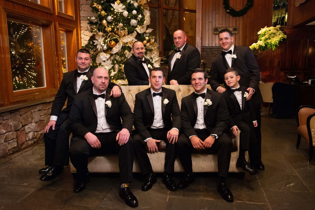 Groomsmen photo at Fox Hollow