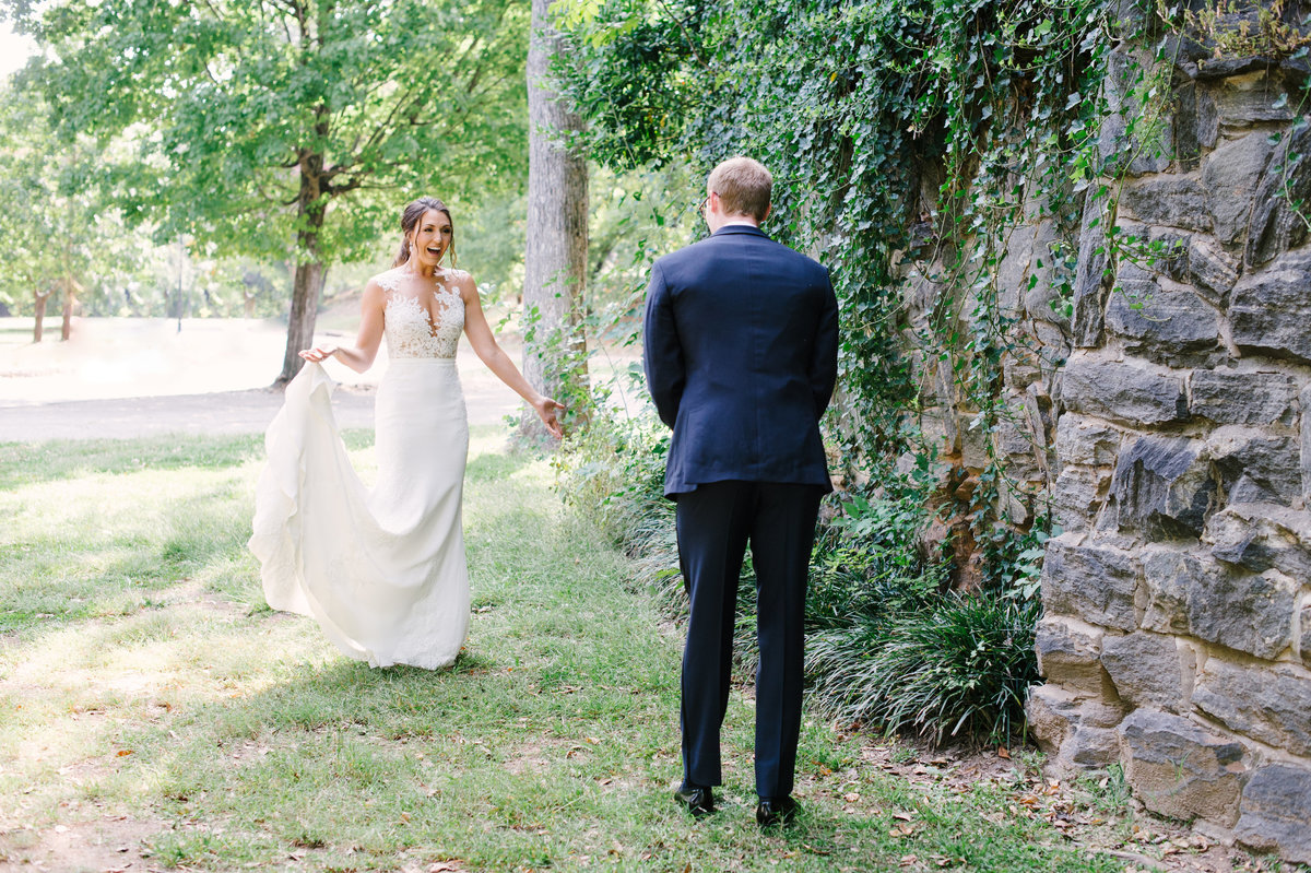 First Look Greystone at Piedmont Park Wedding