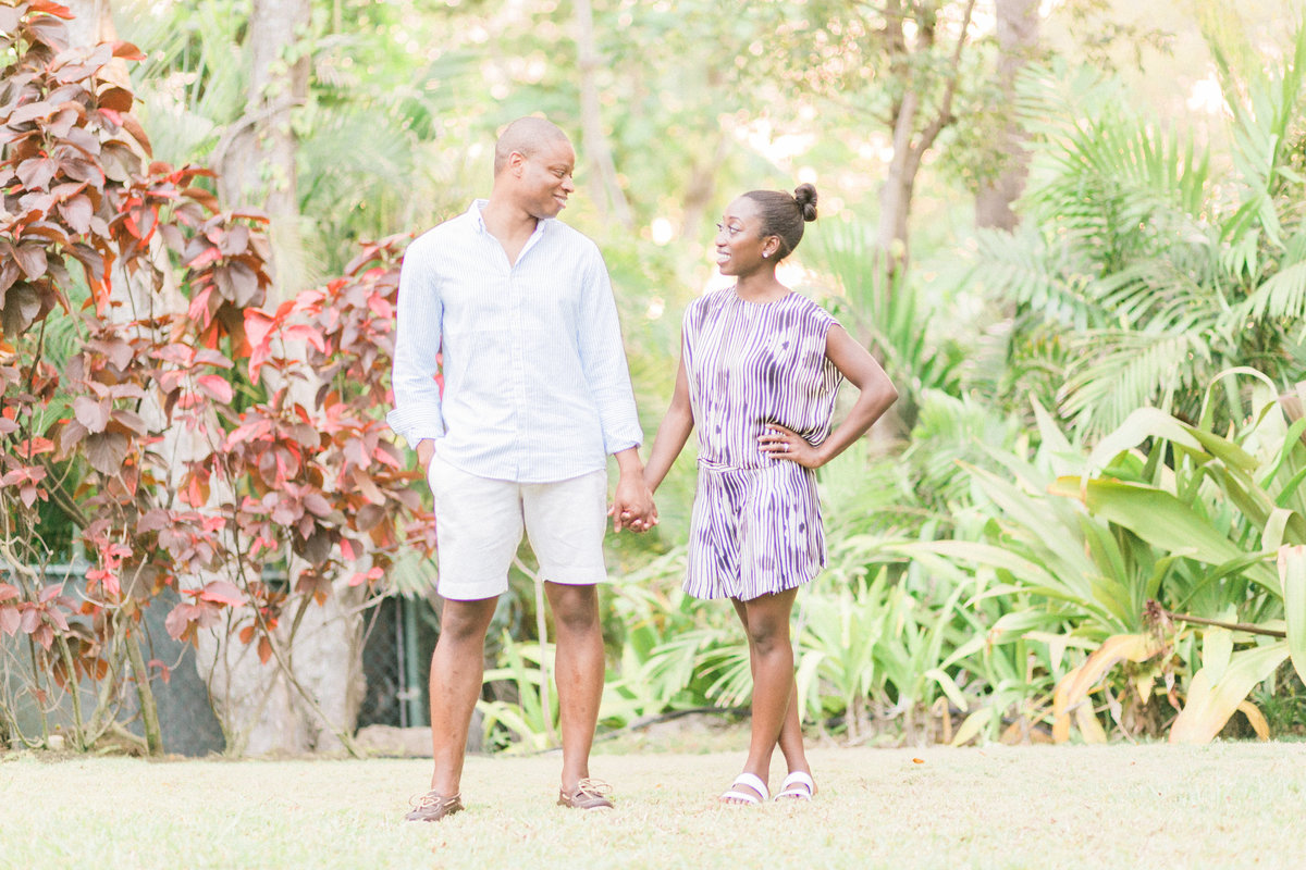 Lush Tropical Garden Engagement Photos