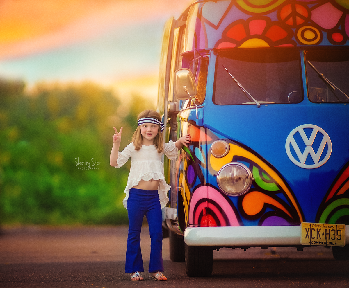hippy bus shoot, creative new jersey photographer