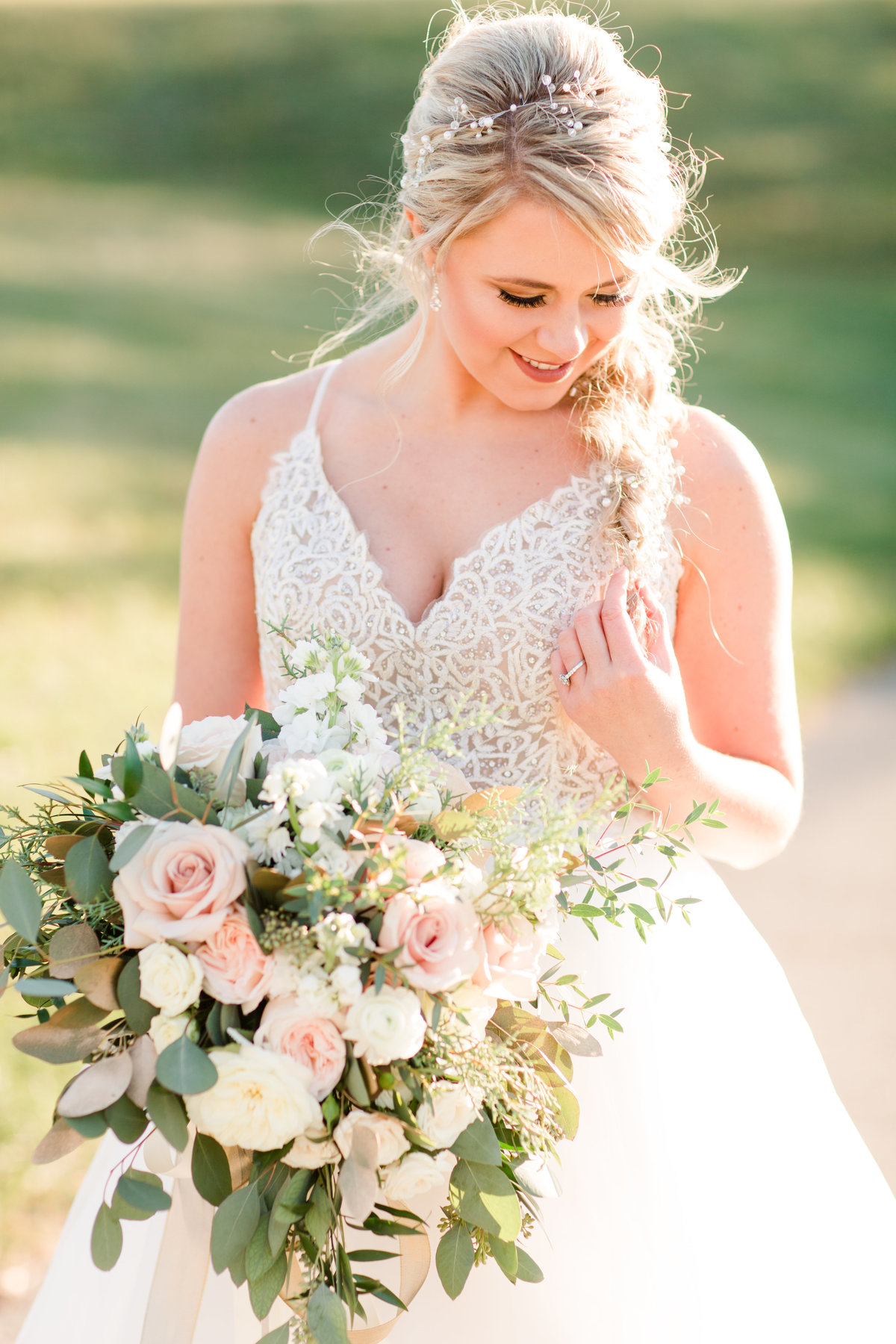 Elsa wedding hair