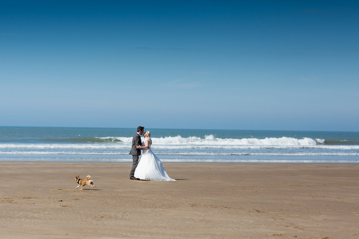 cornwall surfer beach wedding