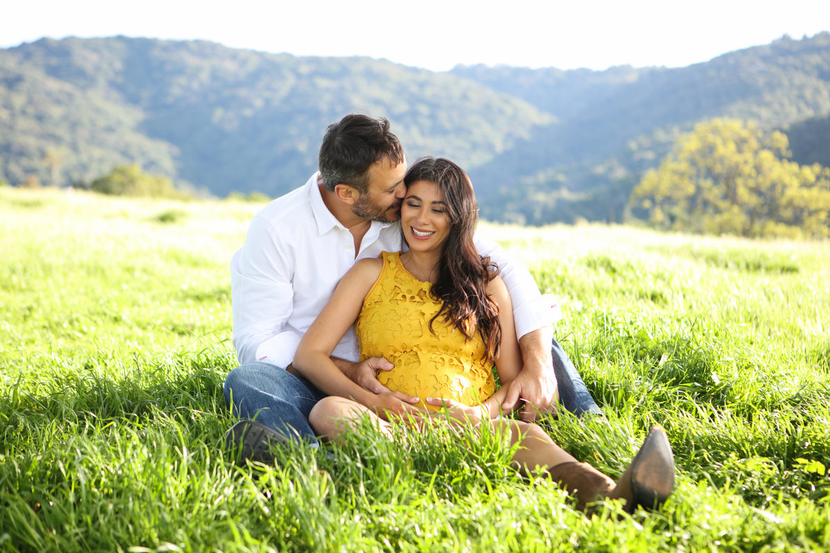 Sunset Maternity Photoshoot in the Los Altos HIlls