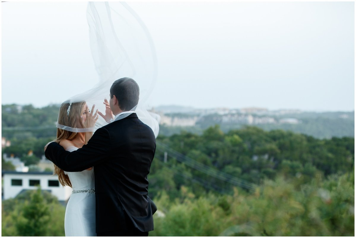 austin wedding photographer vintage villas bride groom flying veil 4209 Eck Ln, Austin, TX 78734