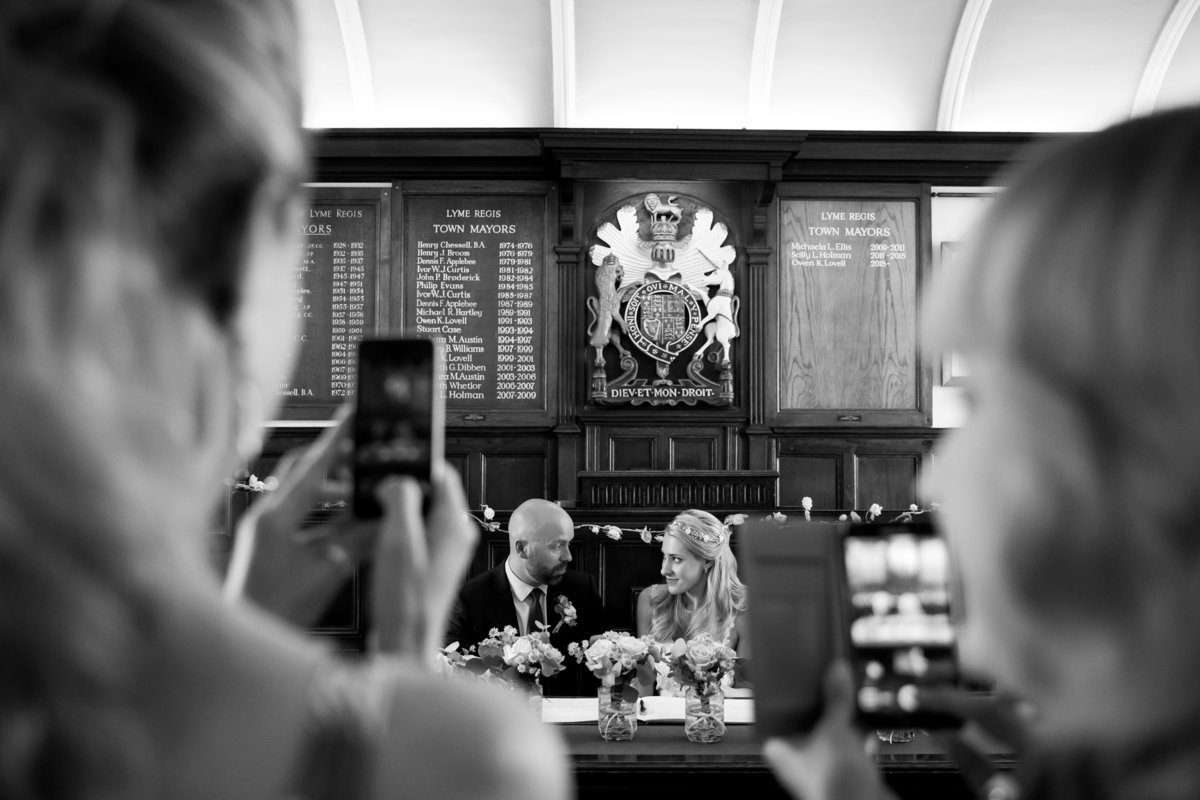 lyme regis town hall wedding photographer