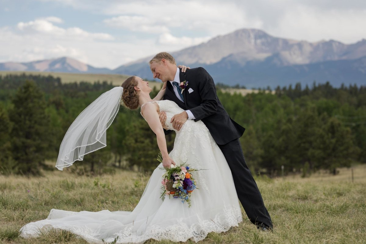 Pikes Peak VIew for Woodland Park wedding